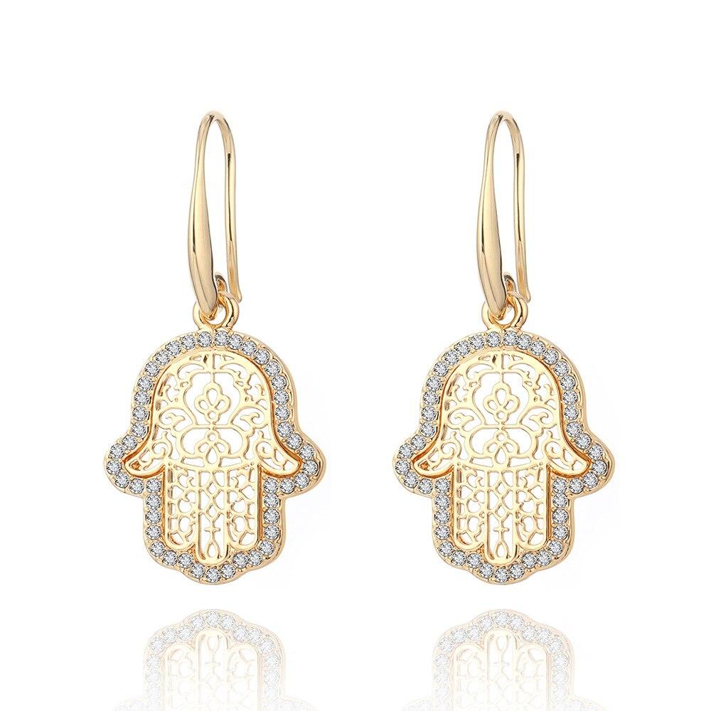 European and American personality punk palm ear hooks ebay new creative hollow Fatima hand pendant earrings box clutch purse