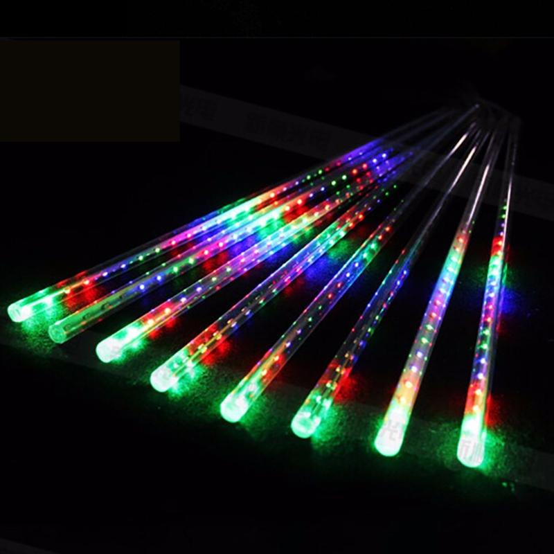 Led String Lights EU Plug 20 Inches 8 Tubes Meteor Shower Rain Lights Waterproof Falling