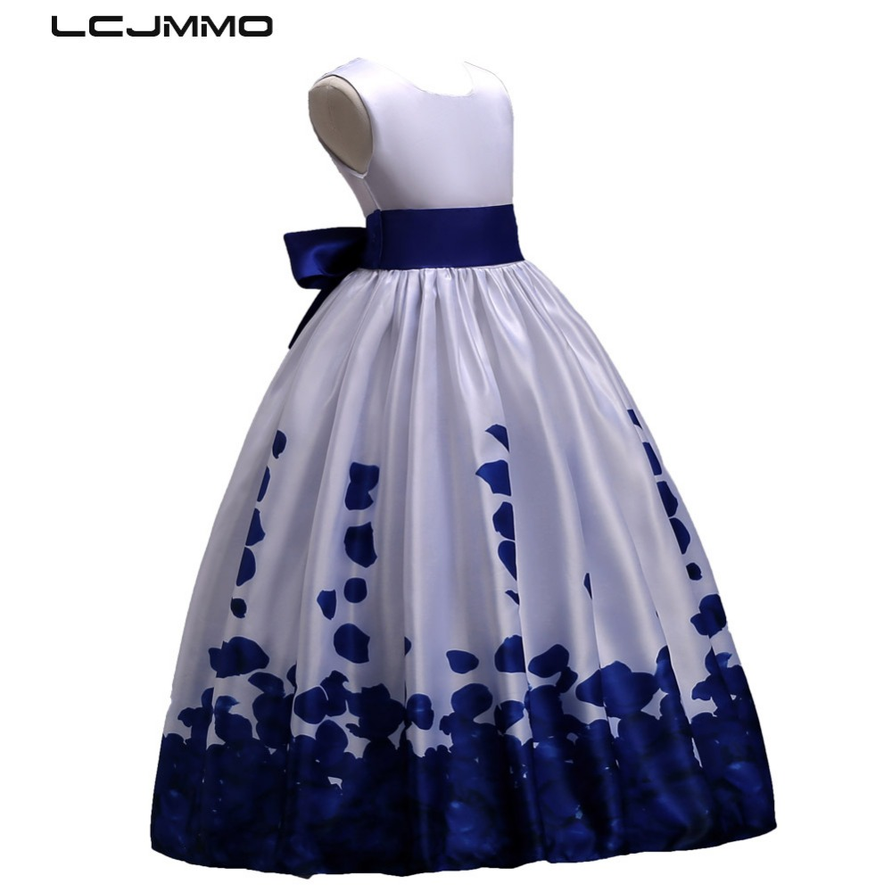 LCJMMO 2018 New Flower Girl Dress Kids Girls Wedding Princess Party Pageant Dress Ball Gown Teenagers Girl Clothes Dress 3-12Y 2017 summer new lace vest girl dress baby girl princess dress 3 7 age chlidren clothes kids party costume ball gown beige