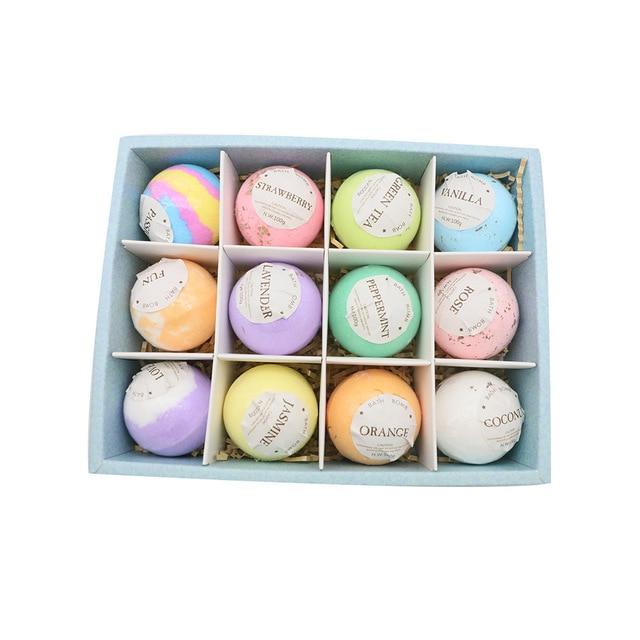 1 piece Bath Bombs Single pack100G Natural Essential Handmade Organic Spa Bomb Ideal Gift for Women Bath Salt, Fizzy Spa 5