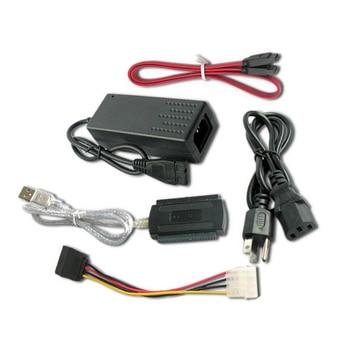 1 set USB 2,0 a IDE SATA S-ATA 2,5 disco duro de 3,5 HD HDD Cable Adaptador convertidor EM88