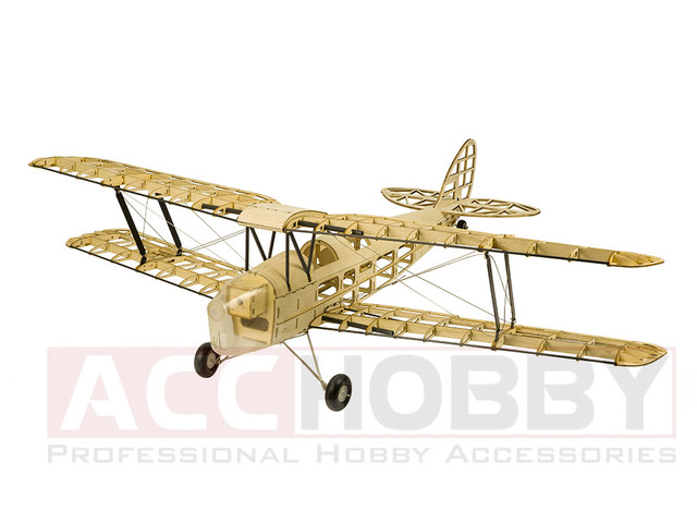 2018 New De Havilland Dh82a Mini Tiger Moth Rc Plane Biplane 980mm