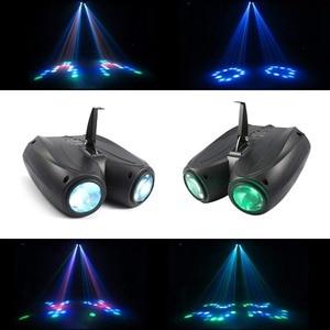 Image 2 - אוטומטי/קול Actived 128 נוריות RGBW אורות מוסיקה בקרת Led שלב אפקט תאורת DJ דיסקו אור לייזר מנורת מפלגה מקרן בר