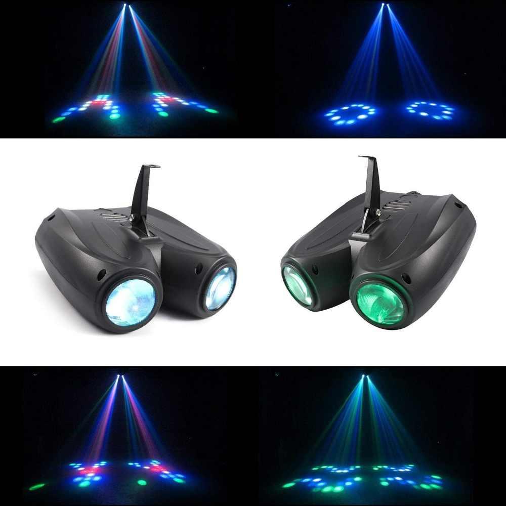 אוטומטי/קול Actived 128 נוריות RGBW אורות מוסיקה בקרת Led שלב אפקט תאורת DJ דיסקו אור לייזר מנורת מפלגה מקרן בר