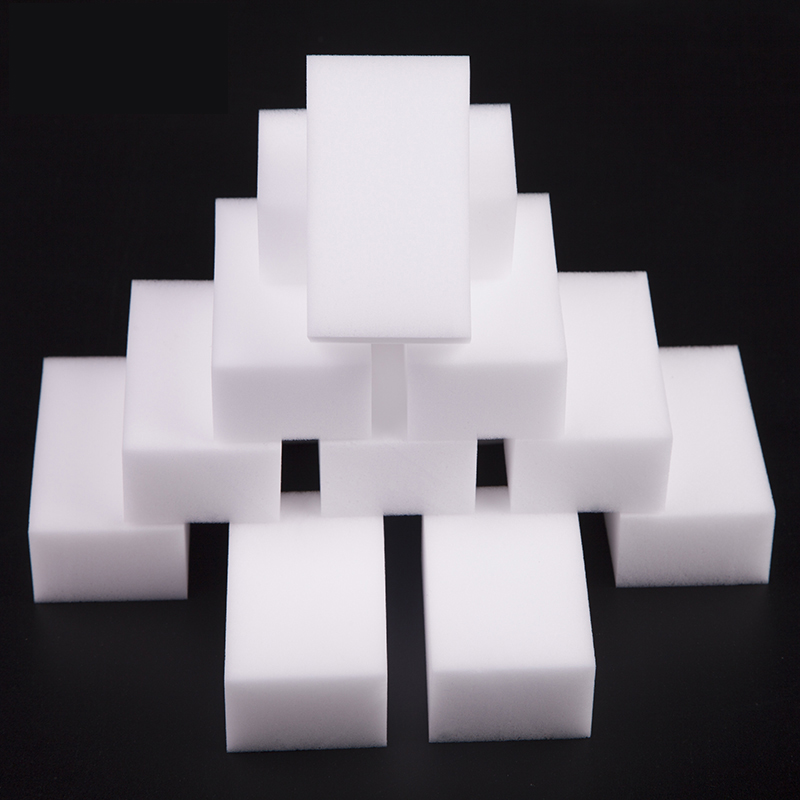 10x7x3cm 100 pcs/lot high quality Magic Sponge Eraser Melamine sponge Cleaner for Kitchen Office Bathroom Cleaning