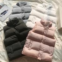 plus size 3XL down cotton vest women autumn winter short cotton padded jacket sleeveless women wadded jacket vest