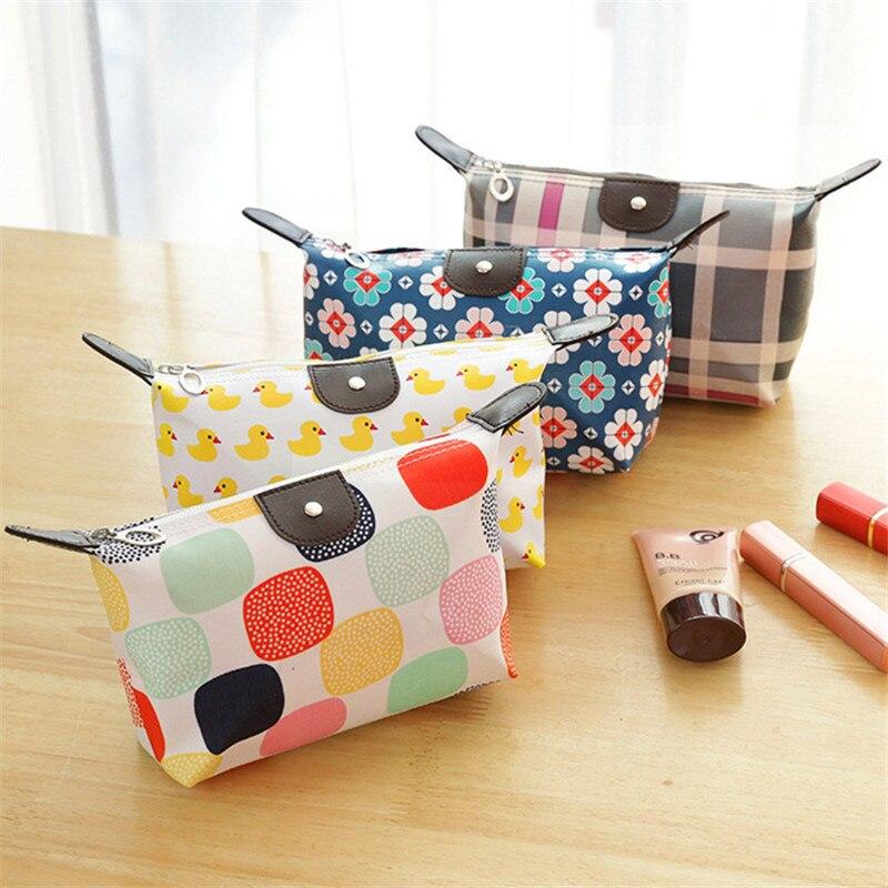 Women Portable Multifunction Waterproof Zipper Travel Cosmetic Bag Makeup Case Makeup Wash Pouch Toiletry Bag Neceser