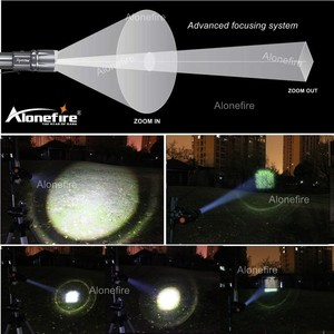 Image 5 - AloneFire X900 CREE XM L2 T6 Alüminyum Açık LED el feneri Torch Yakınlaştırma Zaklamp fener 26650 veya 18650 şarj edilebilir pil
