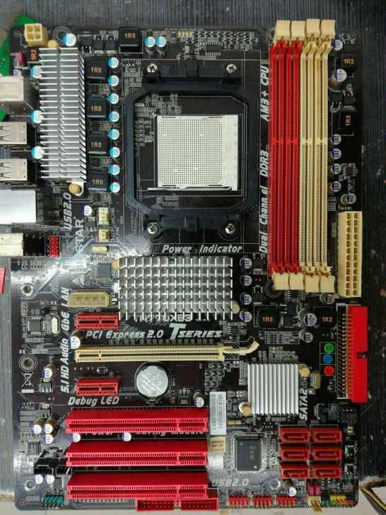 Used,Free shipping for Biostar TA770XE3 motherboard DDR3