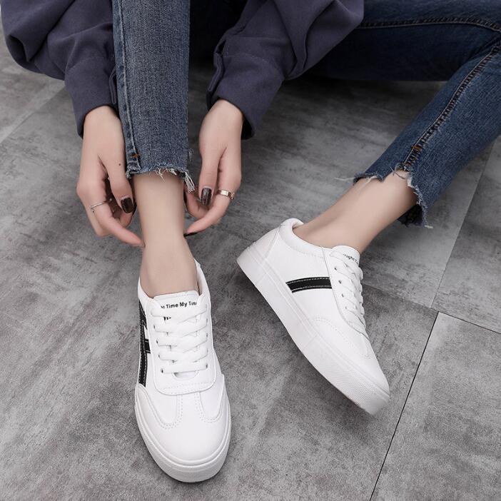 Femmes Noir Automne Toile Nouveau Femme Confortable Casual Contracté Mode V62 Avec Blanc blanc Effgt Chaussures Plat rouge dXB6ww8
