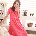 Panas di penjualan! New women's fashion lace applique sexy woman long silk nightgown paragraph 7 colors, free shipping