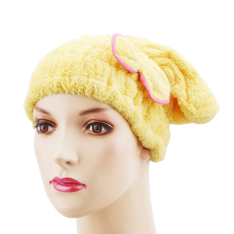 Cute Protective Hair Microfiber Shower Bathtubs Turban Towel Elastic Band Spa Baths Cap Hat Shower Bathtubs Room Accessories