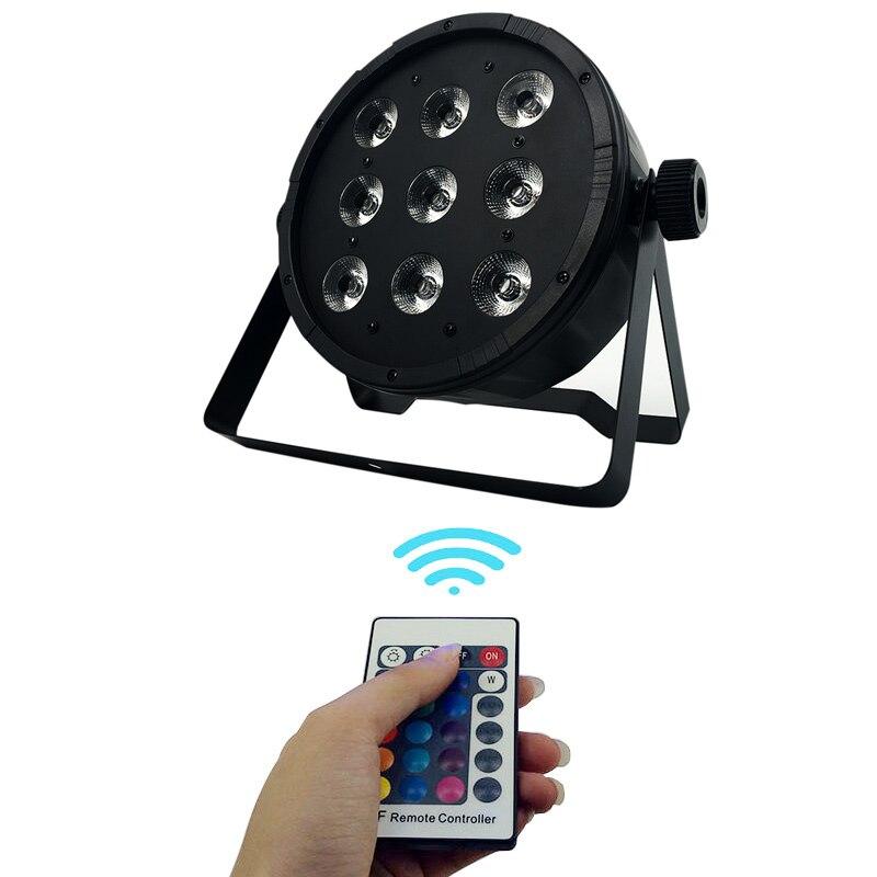 Controle remoto sem fio LEVOU Par 4IN1 9x12W RGBW LED Wash Luz Stage Uplighting Free & transporte Rápido