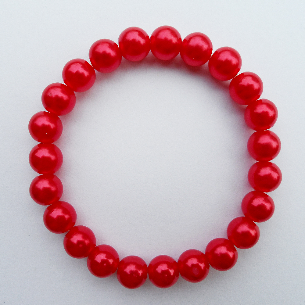 {2019 fashion red pearl bracelet,fine quality sexy pearl red bracelet for women, jewelry factory red Imitation pearl bracelet Скульптура