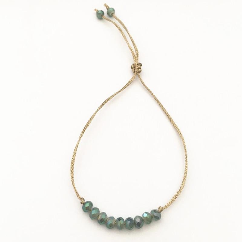 Bracelets en cristal de corde réglable à la main DM pour femmes accessoires de bijoux de mode breloque couple bracelet bijoux femme