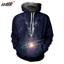 UJWI Planet Digital 3d Printing Hooded Hoodies Long Drawstring Sweatshirts Jacket Baseball Uniform Long Sleeve Hoody Pullovers(China)