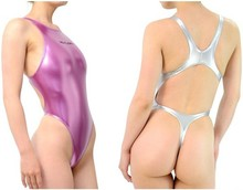 New Free Shipping Sexy Hot Thong One Piece Swimwear Backless Swimsuit Women Silvery Bathing Suits Bodysuit