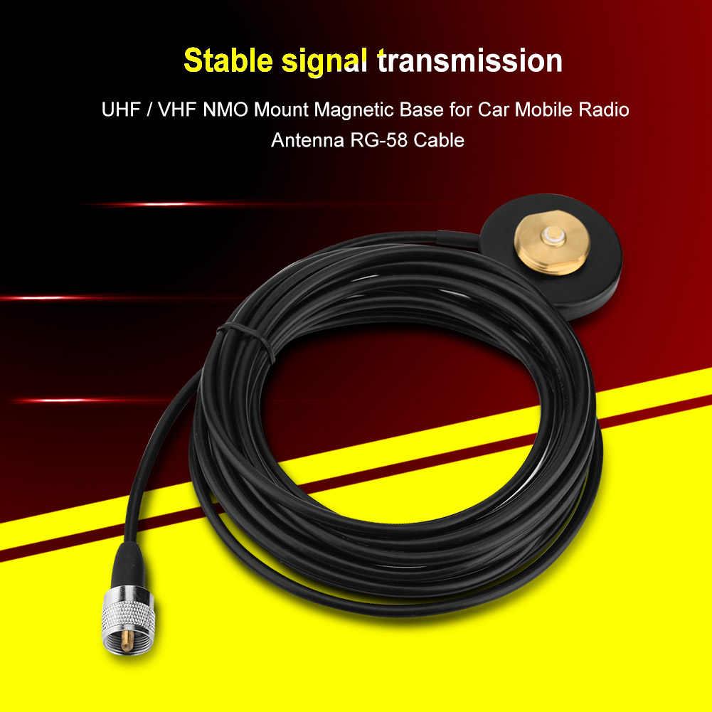 SOONHUA NMO Base UHF/VHF NMO montaje Bases magnéticas para coche Antena de Radio móvil con Cable