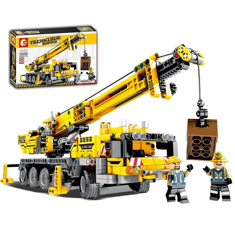 665PCS City Engineering Technic Machine Car Building block