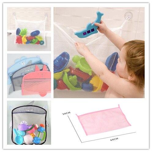 1Pc New Bathroom Storage Mesh Bag Beach Toy For Children Variety Style Cartoon Baby Bath Toys Hangable
