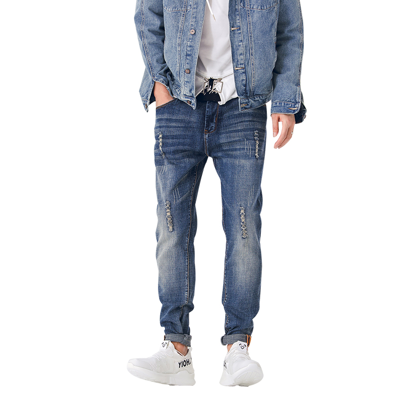 New mens famous brand jeans men Fashion elasticity mens straight jeans high quality Comfortable male pants