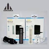 ADEASKA Blanco 10 Puertos USB Multi Estación de Carga Del Muelle de Escritorio con Soporte Para El teléfono Móvil tablet PC