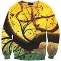 2015 New Fashion Women/Men 3d Sweatshirt Printed Twilight Withered Sweatshirts Womens Harajuku Galaxy Hoodies Clothes Wholesale