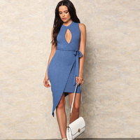 Summer-Fashion-Halter-Belt-Dress-3
