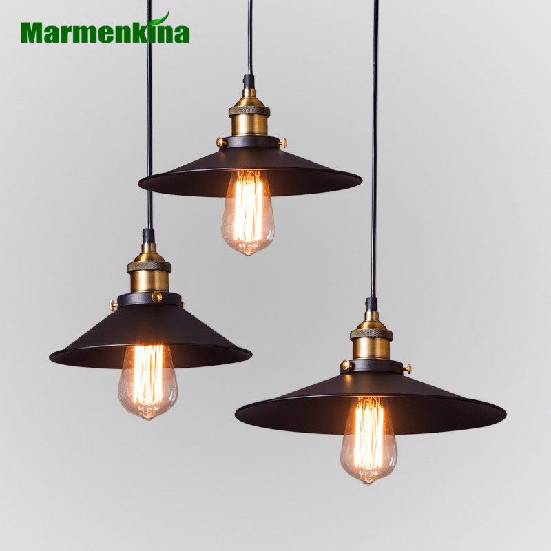 Marmenkina Vintage Industrial Retro Ceiling Lamps Loft Pendant Light Dining Room Lamp Restaurant Bar Counter Attic Lighting E27