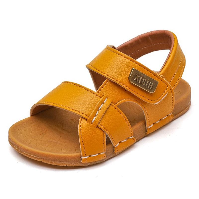 ULKNN Boys Sandalies Children's Sandals Boys Stitching Simple Soft Bottom Sandals Girls Baby Beach Shoes Tide 2020 Summer New
