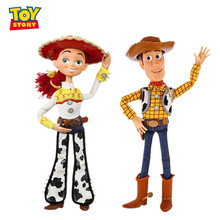 16 inch 40CM Disney Pixar Toy Story 3 4 Sound Woody Jessie Action Character Model Doll Limited Collection Children Gift