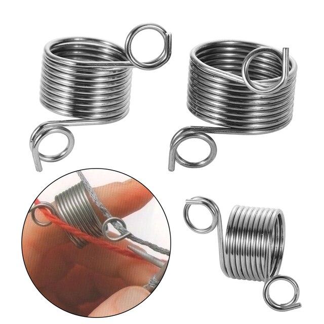 2 размеры кольцо тип вязание инструменты палец носить наперсток пряжа Пружинные направляющие нержавеющая сталь иглы наперсток Вышивание Инти
