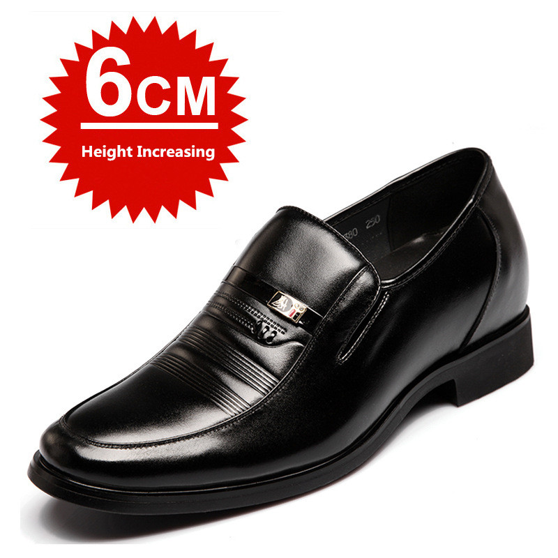 MUHUISEN Mens Height Increasing Shoes Genuine Leather Classic - Men's Shoes - Photo 2