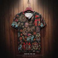 Sinicism Store 2018 hommes coton lin à manches courtes T Shirt été mince tissu chinois traditionnel vêtements mâle rétro t-Shirt 8801