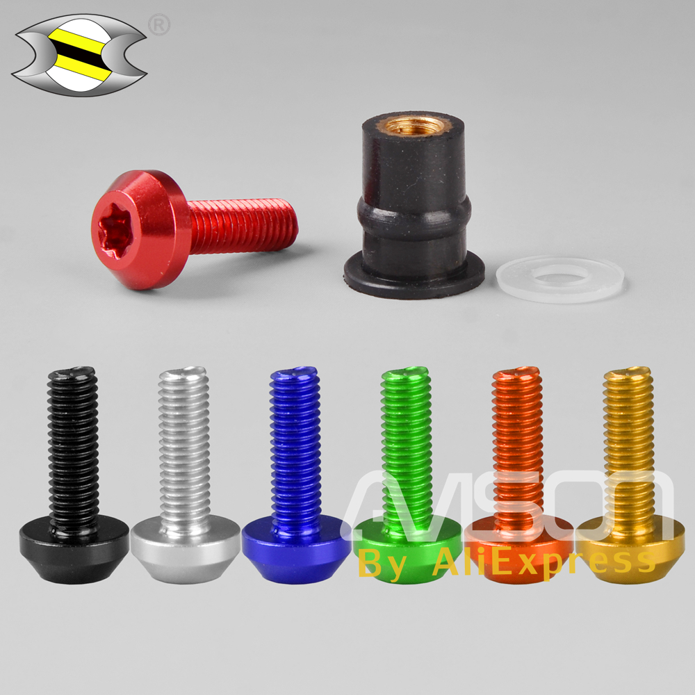 LoveMoto Full Motorcycle Fairing Bolt Screw Kit For Kawasaki ZX6R ZX-6R Ninja 636 1994 1995 1996 1997 New Body Screws Aluminum Fasteners Hardware Clips Green Silver