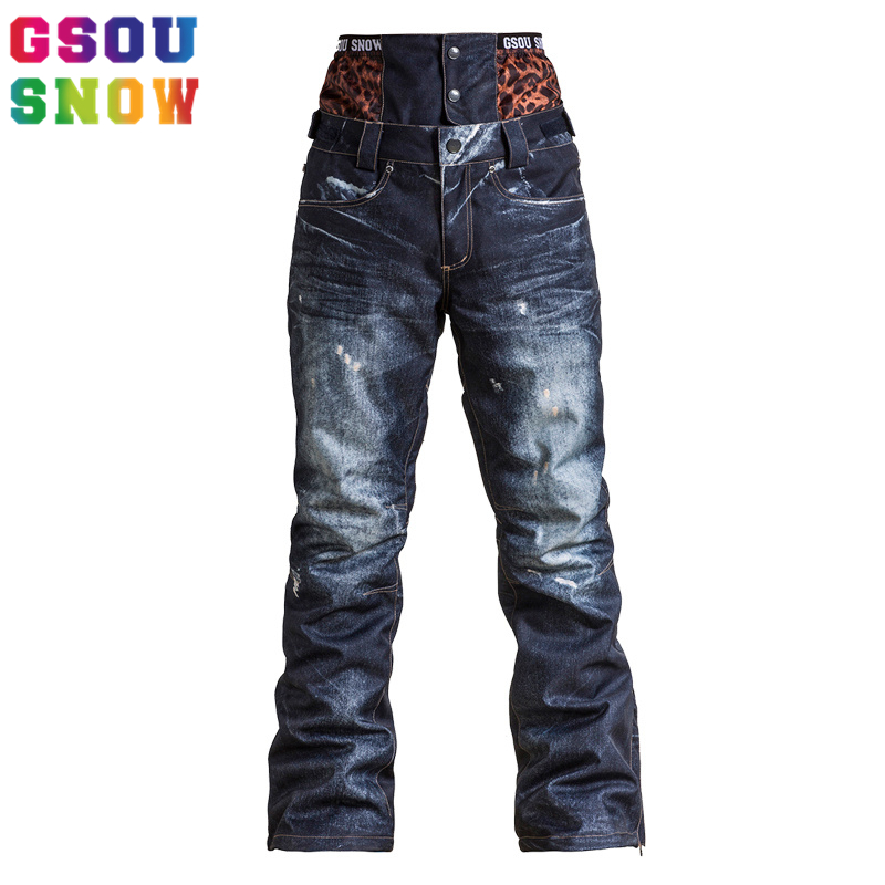 GSOU SNOW Ski Pants Women Snowboard Pants Winter Ski Trousers Waterproof Windproof Female Outdoor Skiing Snowboarding Skiwear winter snow clothing ski suits women snowboard pants skiing jackets keep warm waterproof female skiwear outdoor snoboarding