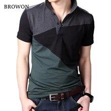 Plus Size 2017 Summer Casual Men T-shirt Patchwork Short Sleeve Turn-down Collar Cotton Blend T Shirt for Men Comfortable 5XL