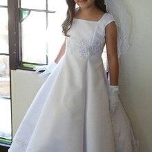 Платье принцессы со шнуровкой на спине; платье с цветочным узором для девочек; нарядные платья для девочек на свадьбу; платья для первого причастия; пышные платья для девочек