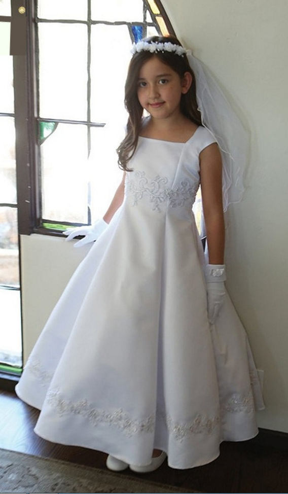 Princess Lace-up Back Flower Girl Dresses Girls Party Dresses For Wedding Girls First Communion Dresses Girls Pageant Dresses