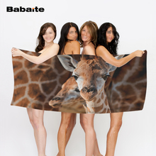 Young Giraffe Texture Background Soft Beach Towel Bath Sports Travel Towel Home Hotel Drying Washcloth Kids Blanket