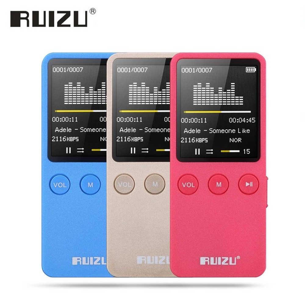 Ruizu Hi-Fi Портативный Динамик без потерь цифровой Спорт Экран Hifi аудио Mp 3 мини музыки Mp3 плеер FM радио с Flac ЖК-дисплей бег
