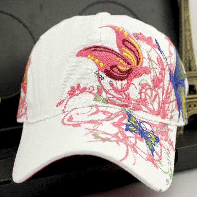 Новый 2016 Лето Вышитые Бейсболка Женщины Леди Мода Велоспорт Visor Sun Hat Cap Хип-Хоп Прохладный Цветочные Прохладный и Красивый