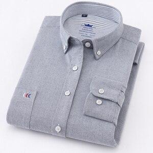 Image 5 - عالية الجودة رجل قمصان قميص قطني بكم طويل بلون فاخر الرجال قميص المهنية الأخضر الأبيض الذكور الملابس kamas دي Hombre