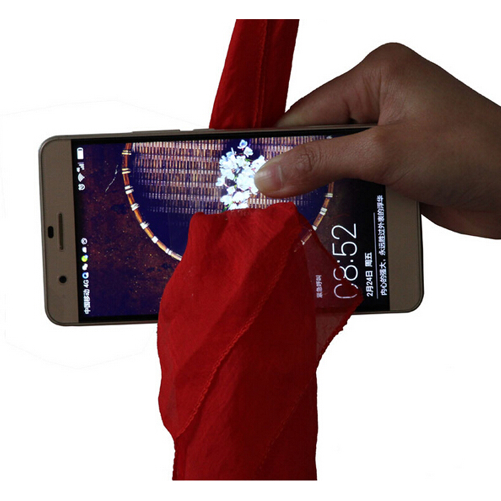 Magic Scarf Through Phone Close-up Tricks Magie Funny Silk Thru Phone Trick Toys For Magicians Gag Toys Party Prop Strick Toys
