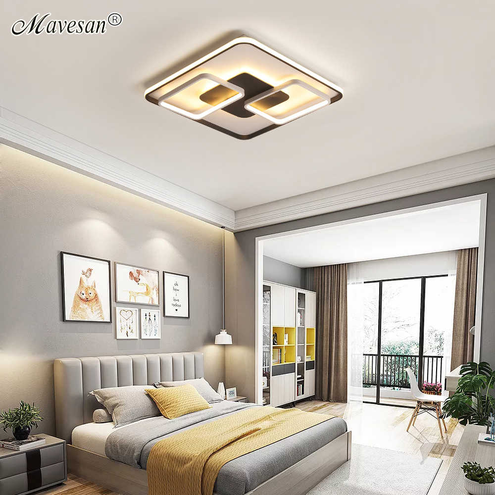 Светодиодный потолочный светильник с поверхностным креплением, Современная Гостиная для спальни, поддержка 110 В и 220 В, светодиодный пульт дистанционного управления