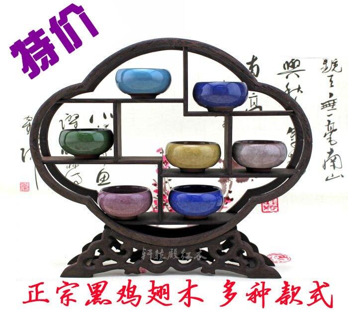 ④Al por mayor Ming y Qing muebles WENGE Tenon curio antigua tetera ...