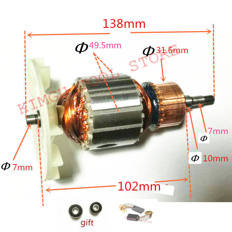 220-240V Rotor Motor Armature  Replacement for MAKITA 9404 9920 9903 Belt Sander220-240V Rotor Motor Armature  Replacement for MAKITA 9404 9920 9903 Belt Sander