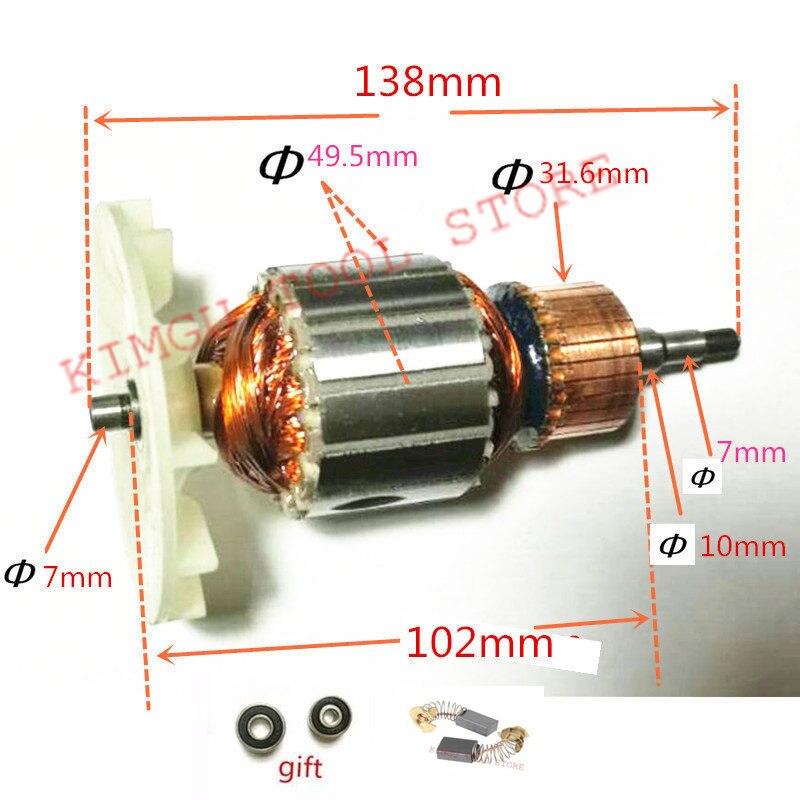 220-240V Rotor Motor Armature  Replacement For MAKITA 9404 9920 9903 Belt Sander