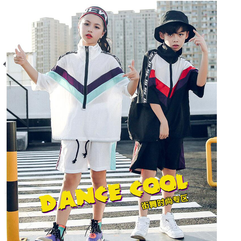 Kids Hip Hop dance Clothing Girls Boys Sweatshirt Jogger Pants Jazz Dance wear Costumes Set Ballroom Dancing Street wear Outfits