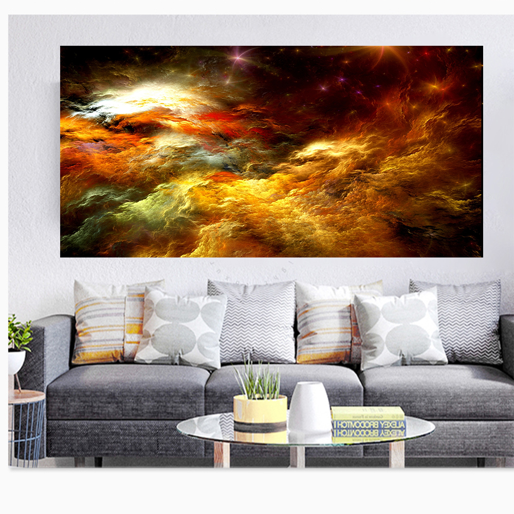 Aliexpress.com : Buy WANGART Abstract Colors Unreal Canvas ...